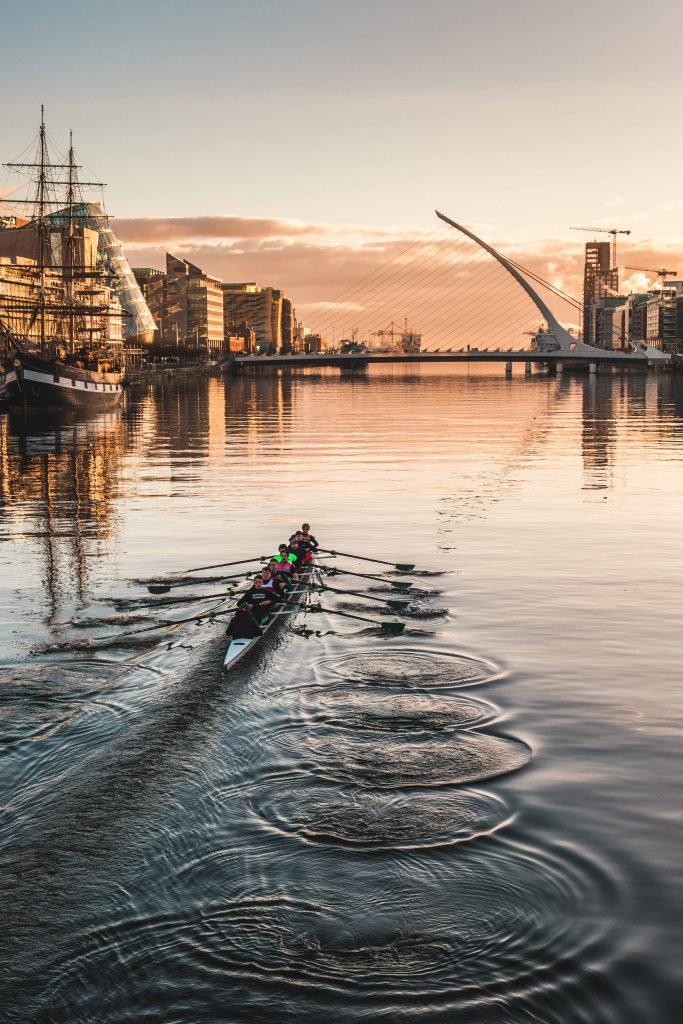 Rowers on the River Liffey, interview with photographer Peter Maguire
